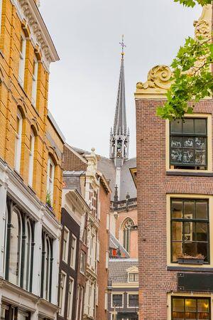 scene of amsterdam city, netherlands, at dusk 写真素材