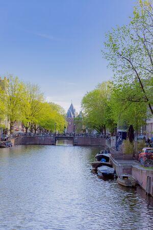 scene of canal in amstedram