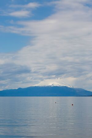 Calbuco volcanoand and Llanquihue lake in Chile