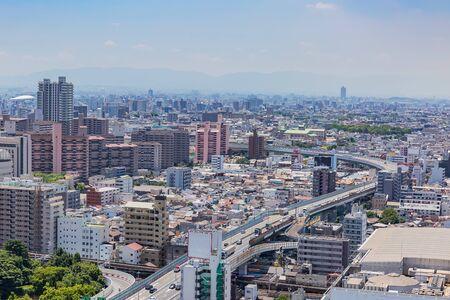 view of dowtown Osaka, Japan