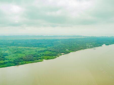 Huge river, rio guayas in ecuador