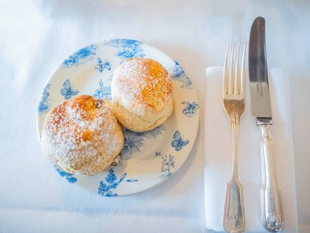 traditional english scone on plate