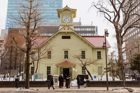 old clock tower in sapporo