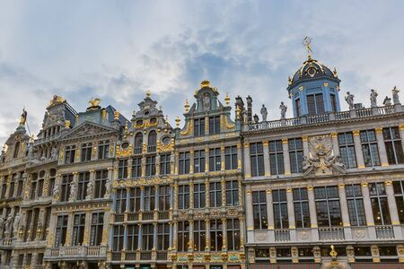Houses of the Grand Place  in brussels, Belgium Redakční