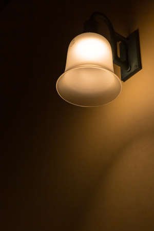 abstract old lampshade suspended ceiling light Stockfoto