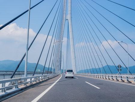 bridge of shimanami kaido in japan
