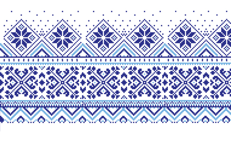 jacquard: jacquard fair isle blue and white