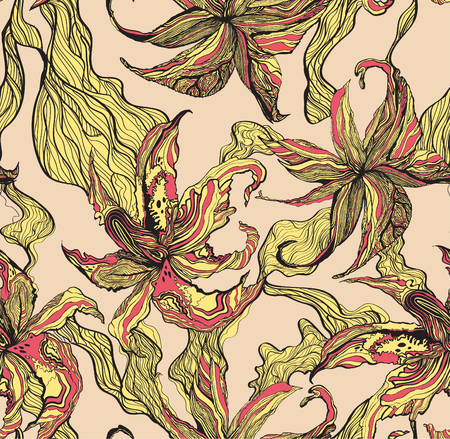 tiger lily: Tiger lily pattern
