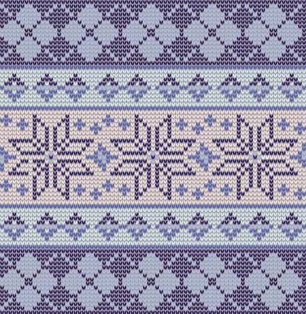 星とのシームレスなブルーなフェアアイル パターン