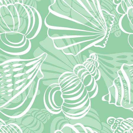 Seamless pattern with shells,seashells, vector illustration