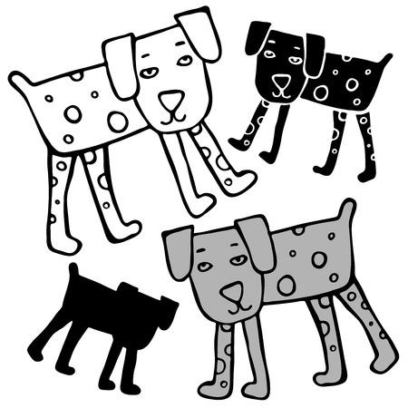 Vector design with stylized dog