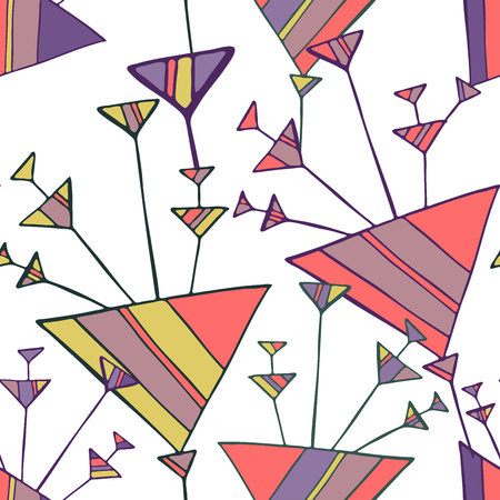 Pattern with stylized flowers. Can be used for printing on paper, stickers, bijouterie, textiles