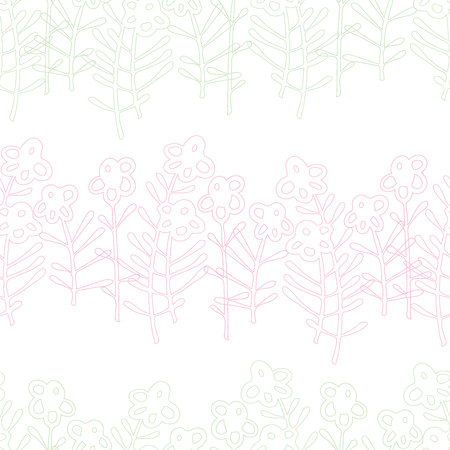 Vector design with ornamental plants, can be used for textiles, wallpaper, children s clothing, wrapping paper.