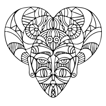 Decorative elements of ethnic style, themes for tattoo. Vector illustration.  イラスト・ベクター素材