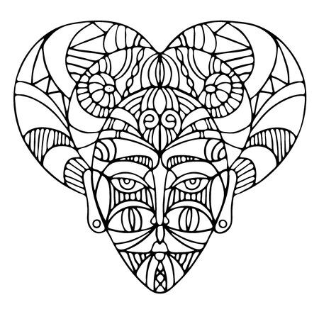 Decorative elements of ethnic style, themes for tattoo. Vector illustration. Ilustração