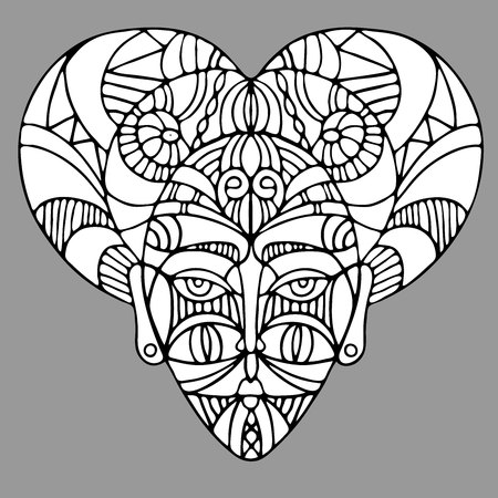 Decorative elements of ethnic style, themes for tattoo. Vector illustration.
