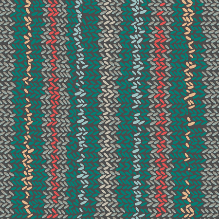 Vector seamless pattern with knitted canvas with a festive pattern ornament. Design can be used for textiles, wallpaper, clothing, wrapping paper.