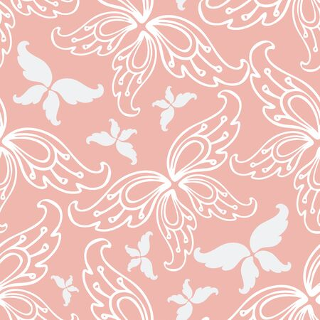 Seamless colorful design with paisley flowers in the form of butterflies. Design is great for designing clothes, jewelry, wallpapers and backgrounds. Ilustrace
