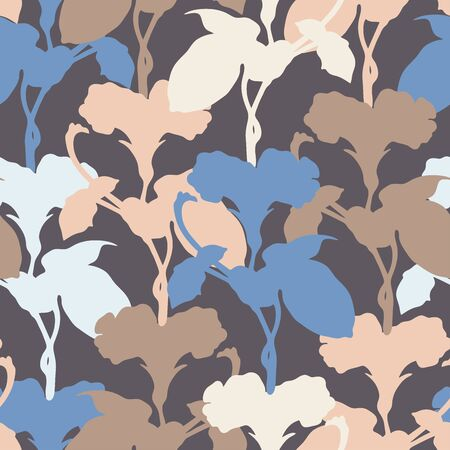Vector seamless pattern botanical with bindweed. Can be used for printing on paper, textiles, stickers, badges, bijouterie, cards.
