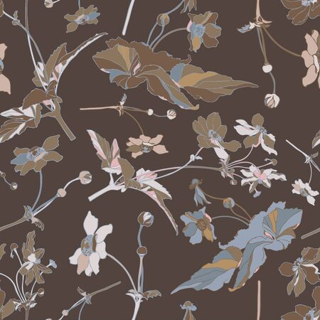 Seamless colorful stylized pattern with flowers.The design is perfectly suitable for clothes design, children s decoration, wallpaper and backgrounds.