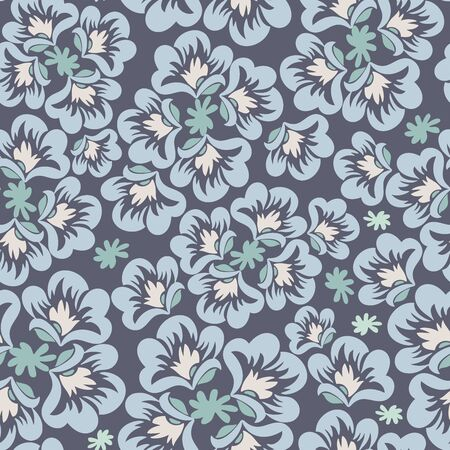 Modern seamless vector botanical with flower for textile. Can be used for printing on paper, stickers, badges, bijouterie, cards, textiles Standard-Bild - 133550084