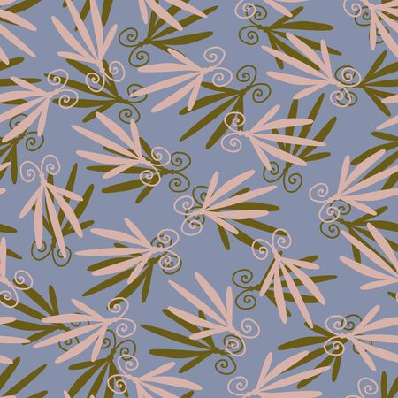 Modern seamless stylized design with abstract dragonflies and flowers. Can be used for printing on paper, stickers, badges, bijouterie, cards, textiles.  Illusztráció