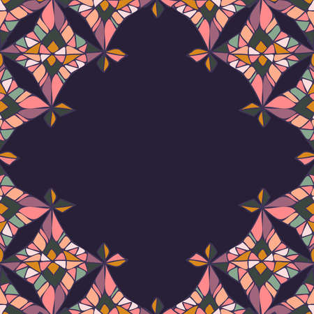 Modern seamless pattern colorful frame design with abstract geometric shapes