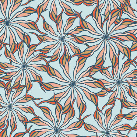 seamless pattern colorful design of hand-drawn sketched flower doodles