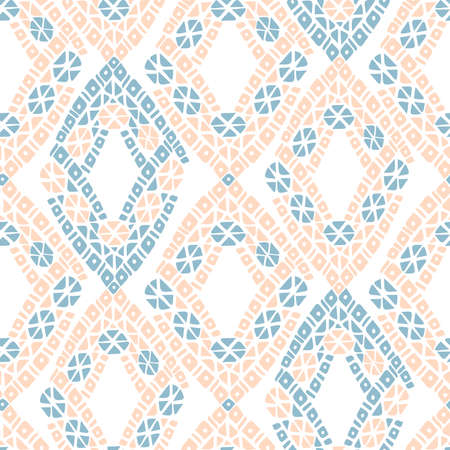 seamless vintage pattern of traditional textile knitting ornament
