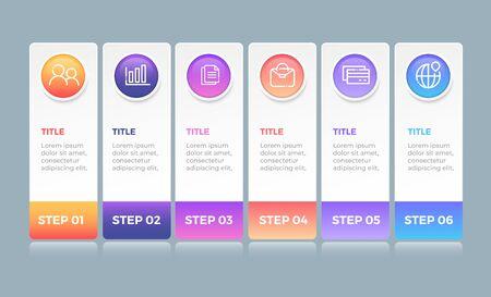 Diseño de infografía empresarial Ilustración de vector