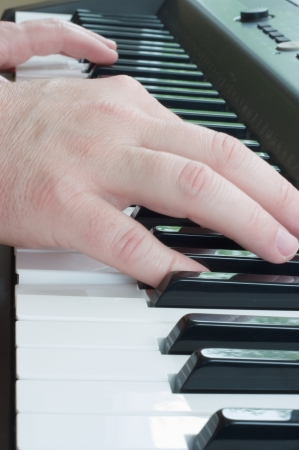 keyboard: Piano keyboard Stock Photo
