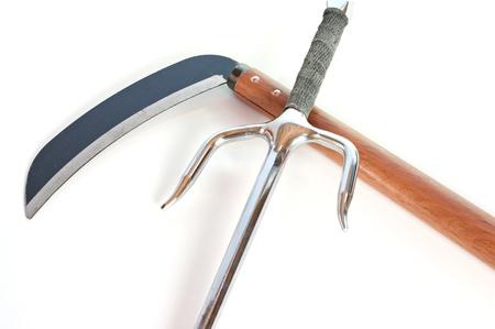 Old martial arts weapons: Sai and Kama
