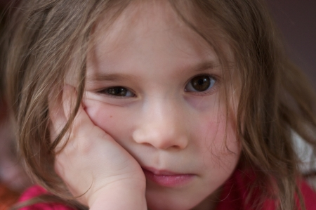 Sad and lonely little girl Stock Photo - 18484796