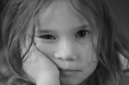 Sad and lonely little girl Stock Photo - 18484649