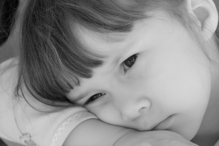Sad and lonely little girl Stock Photo - 18484506