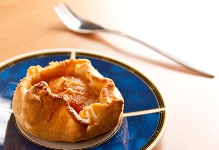 Small homemade apple pie
