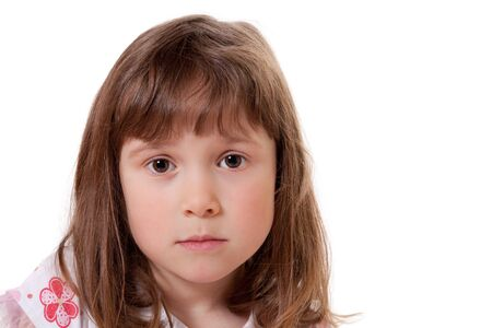 Cute little girl looking sad Stock Photo - 18577022