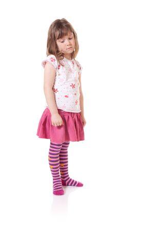 Cute little girl looking sad Stock Photo - 18576827