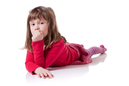 Cute little girl looking sad Stock Photo - 18576873