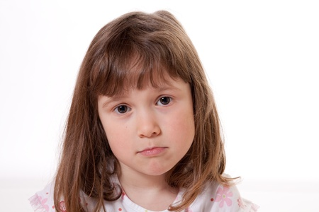 Little girl with a sad expression Stock Photo - 18577009