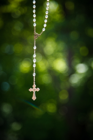 roman catholic: Crucifix hanged outside to pray for good weather on a wedding day