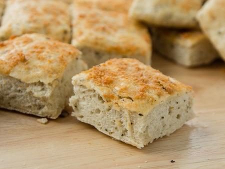 Traditional homemade italian focaccia bread Zdjęcie Seryjne