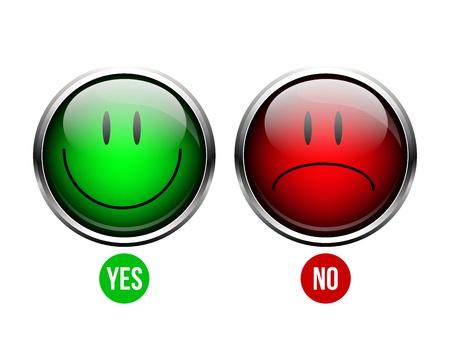 Yes, No button Illustration