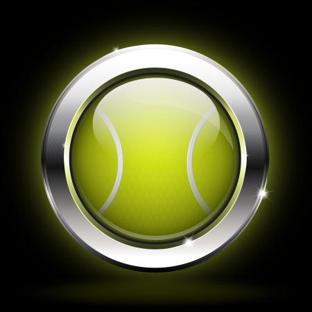 icon tennis ball Vector