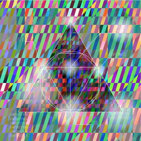 diagrammatic: abstract colorful vector background with a triangle