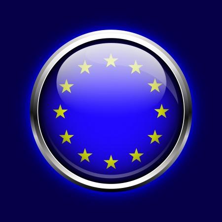 icon European Union  EU flag button