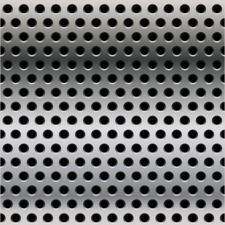 seamless steel perforated steel Vector