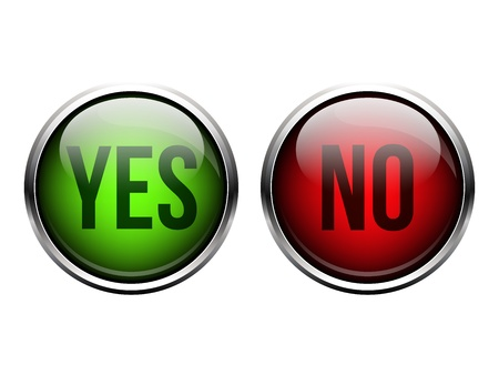 Yes, No button Stock Vector - 20327447