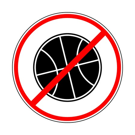 teken verbieden basketbal
