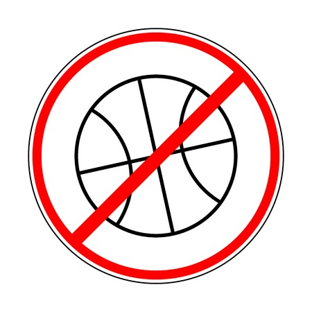 kickoff: sign prohibiting basketball Illustration